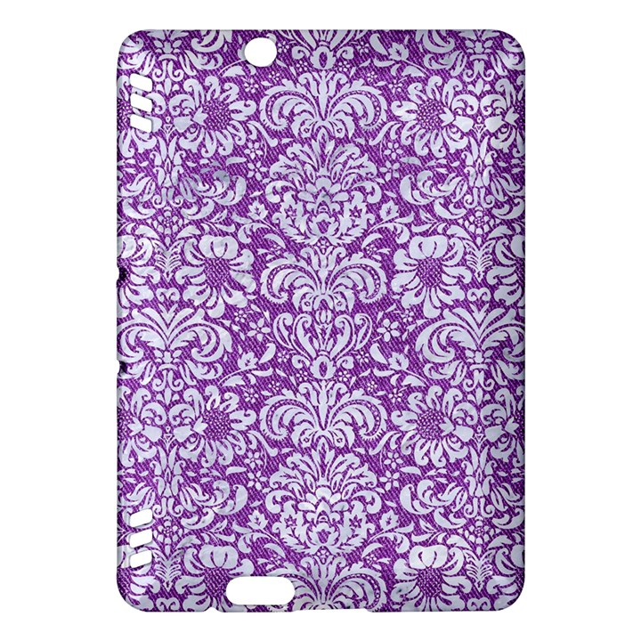 DAMASK2 WHITE MARBLE & PURPLE DENIM Kindle Fire HDX Hardshell Case