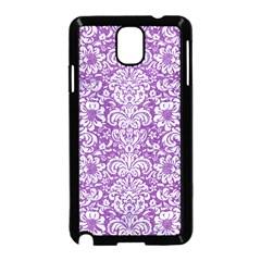 DAMASK2 WHITE MARBLE & PURPLE DENIM Samsung Galaxy Note 3 Neo Hardshell Case (Black)