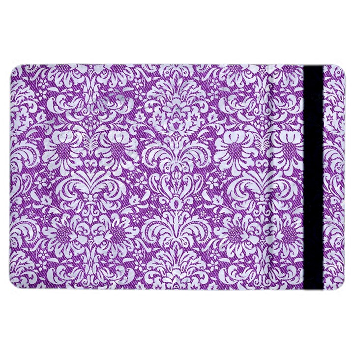 DAMASK2 WHITE MARBLE & PURPLE DENIM iPad Air 2 Flip
