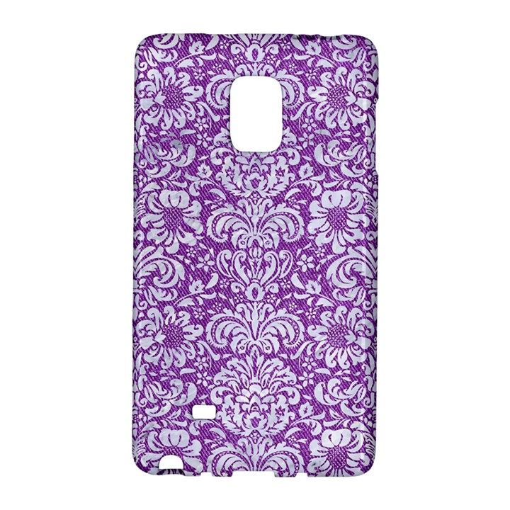DAMASK2 WHITE MARBLE & PURPLE DENIM Galaxy Note Edge
