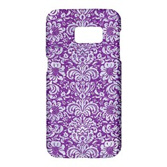 Damask2 White Marble & Purple Denim Samsung Galaxy S7 Hardshell Case