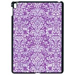 DAMASK2 WHITE MARBLE & PURPLE DENIM Apple iPad Pro 9.7   Black Seamless Case Front