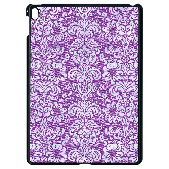 DAMASK2 WHITE MARBLE & PURPLE DENIM Apple iPad Pro 9.7   Black Seamless Case