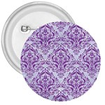 DAMASK1 WHITE MARBLE & PURPLE DENIM (R) 3  Buttons Front