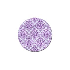 Damask1 White Marble & Purple Denim (r) Golf Ball Marker (10 Pack) by trendistuff