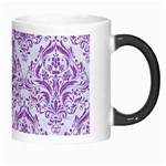 DAMASK1 WHITE MARBLE & PURPLE DENIM (R) Morph Mugs Right