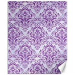 DAMASK1 WHITE MARBLE & PURPLE DENIM (R) Canvas 16  x 20   20 x16 Canvas - 1