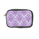 DAMASK1 WHITE MARBLE & PURPLE DENIM (R) Coin Purse Front
