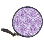 DAMASK1 WHITE MARBLE & PURPLE DENIM (R) Classic 20-CD Wallets Front