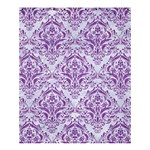 DAMASK1 WHITE MARBLE & PURPLE DENIM (R) Shower Curtain 60  x 72  (Medium)  54.25 x65.71 Curtain