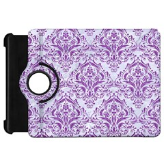 Damask1 White Marble & Purple Denim (r) Kindle Fire Hd 7