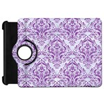 DAMASK1 WHITE MARBLE & PURPLE DENIM (R) Kindle Fire HD 7  Front