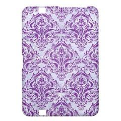 Damask1 White Marble & Purple Denim (r) Kindle Fire Hd 8 9