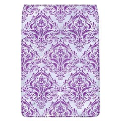 Damask1 White Marble & Purple Denim (r) Flap Covers (l)