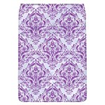 DAMASK1 WHITE MARBLE & PURPLE DENIM (R) Flap Covers (L)  Front