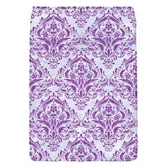 Damask1 White Marble & Purple Denim (r) Flap Covers (s)
