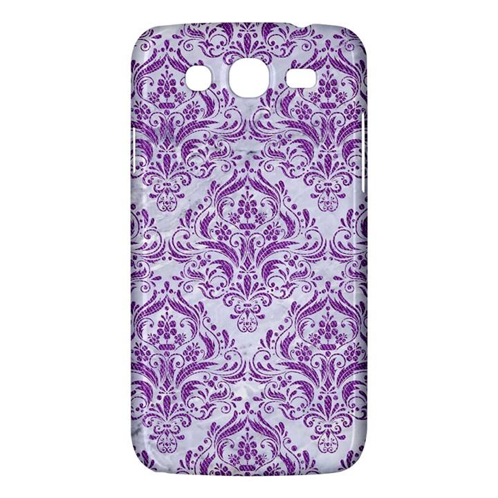 DAMASK1 WHITE MARBLE & PURPLE DENIM (R) Samsung Galaxy Mega 5.8 I9152 Hardshell Case