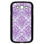 DAMASK1 WHITE MARBLE & PURPLE DENIM (R) Samsung Galaxy Grand DUOS I9082 Case (Black) Front