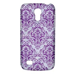 Damask1 White Marble & Purple Denim (r) Galaxy S4 Mini