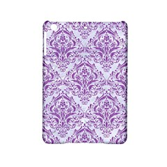 DAMASK1 WHITE MARBLE & PURPLE DENIM (R) iPad Mini 2 Hardshell Cases