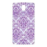 DAMASK1 WHITE MARBLE & PURPLE DENIM (R) Samsung Galaxy Note 3 N9005 Hardshell Back Case Front