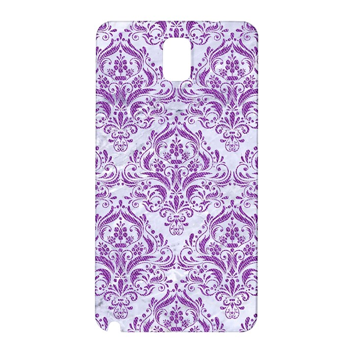 DAMASK1 WHITE MARBLE & PURPLE DENIM (R) Samsung Galaxy Note 3 N9005 Hardshell Back Case