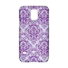 Damask1 White Marble & Purple Denim (r) Samsung Galaxy S5 Hardshell Case  by trendistuff