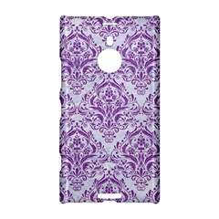 Damask1 White Marble & Purple Denim (r) Nokia Lumia 1520