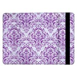 DAMASK1 WHITE MARBLE & PURPLE DENIM (R) Samsung Galaxy Tab Pro 12.2  Flip Case Front