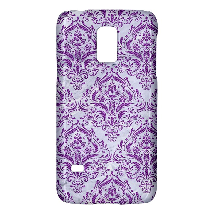 DAMASK1 WHITE MARBLE & PURPLE DENIM (R) Galaxy S5 Mini