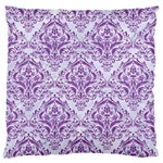 DAMASK1 WHITE MARBLE & PURPLE DENIM (R) Standard Flano Cushion Case (Two Sides) Front