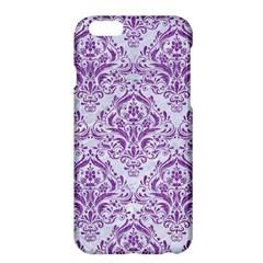 Damask1 White Marble & Purple Denim (r) Apple Iphone 6 Plus/6s Plus Hardshell Case by trendistuff