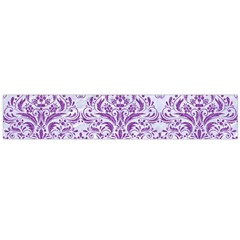 Damask1 White Marble & Purple Denim (r) Large Flano Scarf