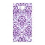DAMASK1 WHITE MARBLE & PURPLE DENIM (R) Samsung Galaxy Alpha Hardshell Back Case Front