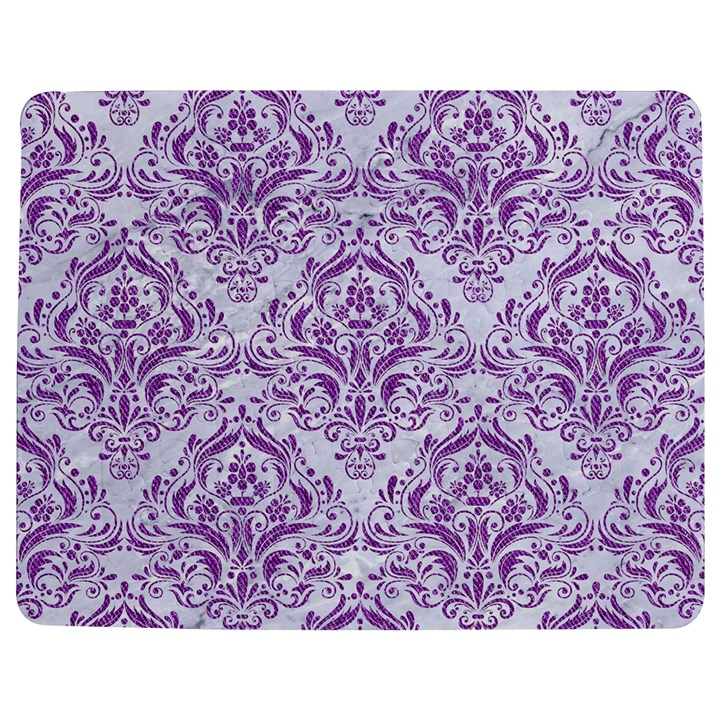DAMASK1 WHITE MARBLE & PURPLE DENIM (R) Jigsaw Puzzle Photo Stand (Rectangular)