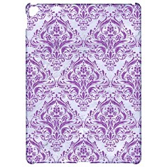 Damask1 White Marble & Purple Denim (r) Apple Ipad Pro 12 9   Hardshell Case