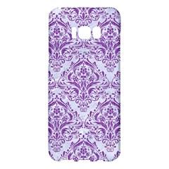 Damask1 White Marble & Purple Denim (r) Samsung Galaxy S8 Plus Hardshell Case