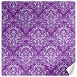DAMASK1 WHITE MARBLE & PURPLE DENIM Canvas 16  x 16   16 x16 Canvas - 1