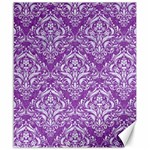 DAMASK1 WHITE MARBLE & PURPLE DENIM Canvas 20  x 24   24 x20 Canvas - 1