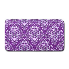 Damask1 White Marble & Purple Denim Medium Bar Mats by trendistuff