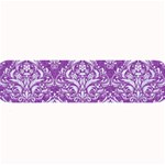 DAMASK1 WHITE MARBLE & PURPLE DENIM Large Bar Mats 34 x9.03 Bar Mat - 1