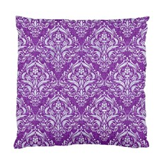 Damask1 White Marble & Purple Denim Standard Cushion Case (two Sides) by trendistuff