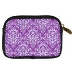 DAMASK1 WHITE MARBLE & PURPLE DENIM Digital Camera Cases Back