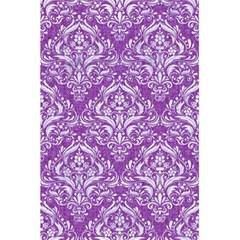Damask1 White Marble & Purple Denim 5 5  X 8 5  Notebooks