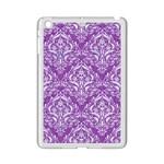 DAMASK1 WHITE MARBLE & PURPLE DENIM iPad Mini 2 Enamel Coated Cases Front