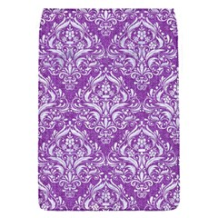 Damask1 White Marble & Purple Denim Flap Covers (s)