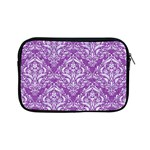 DAMASK1 WHITE MARBLE & PURPLE DENIM Apple iPad Mini Zipper Cases Front