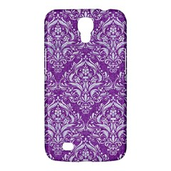 Damask1 White Marble & Purple Denim Samsung Galaxy Mega 6 3  I9200 Hardshell Case
