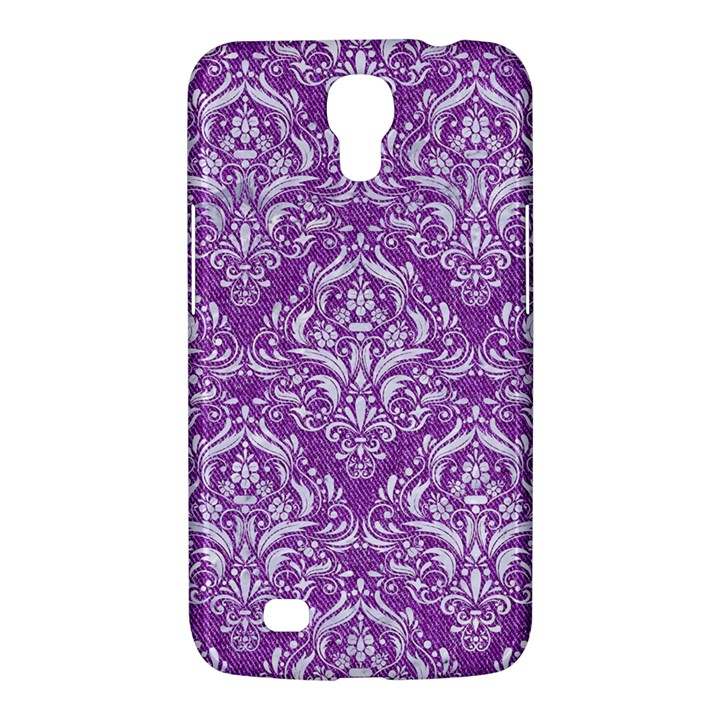 DAMASK1 WHITE MARBLE & PURPLE DENIM Samsung Galaxy Mega 6.3  I9200 Hardshell Case