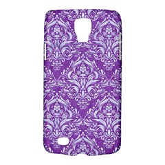Damask1 White Marble & Purple Denim Galaxy S4 Active